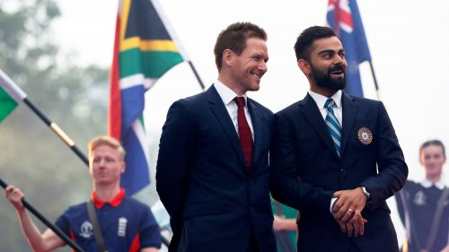 Eoin Morgan and Virat Kohli, Opening Party - ICC Cricket World Cup 2019